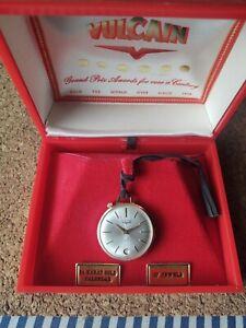 Rare Vintage Vulcain 17 Jewel 14K Yellow Gold Men's Pocket Watch