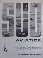 3/1967 PUB SUD AVIATION CONCORDE AIRBUS PUMA ALOUETTE FRELON LAMA RALLYE AD