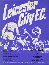 Arsenal v Derby County 1971/72 FA Cup 5th Round 2nd Replay @ Leicester City
