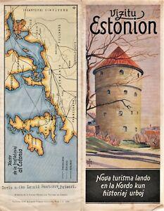 Vizitu Estonion. Tourist Brochure Guide, Tallin, Estonia 1935