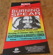 BURNING SPEAR mystic crew ORIGINAL Swiss Concert Poster 1990 ZURICH