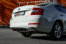 Front Covers RS Style & Rear Covers Imitating Exhaust for Skoda Octavia A7 III