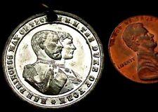 T499: 1893 QUEEN VICTORIA famille royale médaille-Mariage du Duc d'York