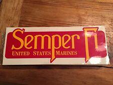 Two USMC,Veteran SEMPER FI Bumper Sticker Decals VTG