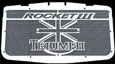 "cache / Grille de radiateur inox Triumph Rocket3 ""Union Jack"" + grillage alu"