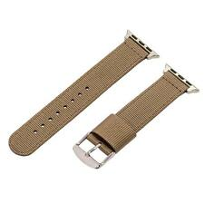 Tan 2 Piece RAF Nylon SS Watch Band for 42mm Apple Watch