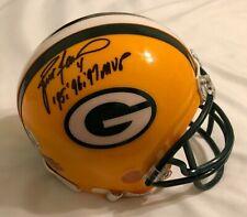 Brett Favre Green Bay Packers signed 95, 96, 97 MVP mini helmet with Favre COA