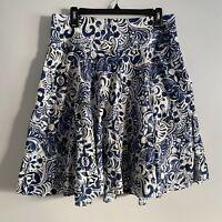 Lauren Ralph Lauren Sz10 circle skirt cotton poplin skirt knee length paisley