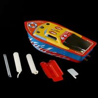 """5"""" Vintage STEAM BOAT Pop Pop Candles Powered Put Put Ship Collectable Tin Toy"""