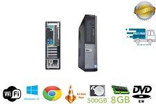 Fast Cheap Dell OptiPlex i7 Desktop SFF 8GB 500 Windows 10 GAMING PC Computer