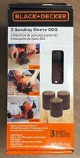 BLACK+DECKER 60 Grit Sanding Sleeves (3 Pack) [BDJDSP60]