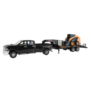 Ertl John Deere Big Farm 1:16 Scale Ram Truck With Skid Steer & Trailer