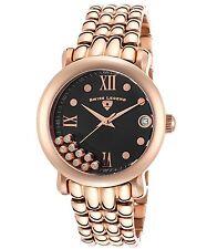 Swiss leyenda para mujeres Diamante de Cuarzo Reloj De Acero Inoxidable Rosa Dorado 22388-RG-11