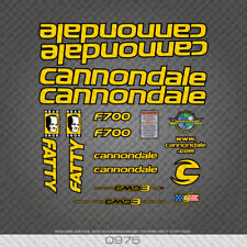 0975 Cannondale F700 Fatty MTB Bike Stickers - Bicycle Decals - Yellow