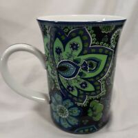 Vera Bradley Barnes & Noble Coffee Tea Hot Cocoa Mug Cup Blue Rhapsody Floral