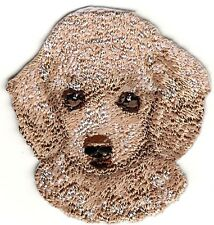 "2"" x 2 1/8"" Brown Beige Poodle Portrait Dog Breed Embroidery Patch"