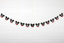 Mickey Mouse Red Black Bunting Birthday Party Flag Letter Banner Decorations
