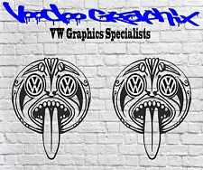 """Volkswagen Extra Large 17"""" Tiki Decal Stickers X2 Transporter T5 T4 T6 Campervan"""