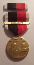 WW II Army of Occupation Military Medal Set with GERMANY BAR