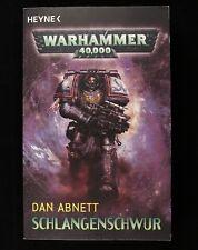 Warhammer 40 000 Schlangenschwur Von Dan Abnett (2009, Libro de Bolsillo)