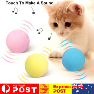Interactive Cat Toys Smart Touch Sound Ball Pet Training Simulation Squeaker