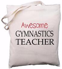 Awesome Gymnastics Teacher - Natural Cotton Shoulder Bag - School Gift