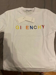 Givenchy Paris Embroidered Logo T-shirt Large White