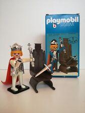 Playmobil 3331 v2 - Knight King with throne (Klicky, OVP, Klicky Box)
