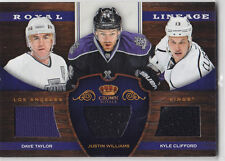 2012-13 CROWN ROYALE TAYLOR WILLIAMS CLIFFRORD JERSEY #RL-LAK 11-12