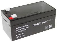 Ein Multipower Bleigelakku MP3.4-12 12 V / 3,4 Ah / Faston 4,8 | LC-R123R4PG