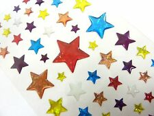 Small Sparkly Star Stickers Kids Labels for Craft Decoration Card-Making CRY03
