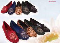 Women's Round Toe Ballet Flat Heel Sandal Shoes Black Tan Red Navy Green 5.5- 11