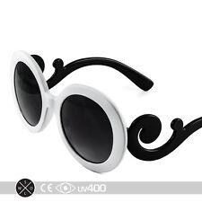 White Children Baroque Swirl Stylish Child Kids Sunglasses Free Case K005