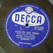 78rpm DICKIE VALENTINE song of the trees / dreams can tell a lie