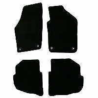 VW Polo Tailored Car Mats Black 2004-2009 Oval Clips