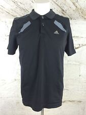 Men's Adidas Clima Cool Sports T Shirt Black Noir Classic Medium running (1127)
