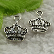 free ship 180 pcs tibet silver crown charms 18x14mm #4068