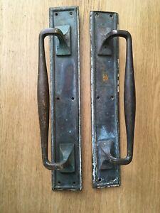 Pair Large Heavy Vintage/Antique Brass Door/Barn Pull Handles