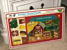 Vintage Golden Picture Sound Puzzle Sounds Of The Farm Peg NOS NEW Kids Toddler