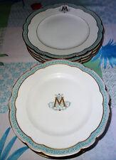 Lot assiettes porcelaine manufacture A HACHE&PEPIN LEHALLEUR Vierzon  XIXe