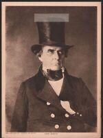 Daniel Webster American Statesman Politician Original 1917 Photogravure Print