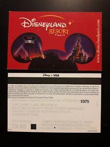 pass Euro Disney Disneyland oreilles email MAGIC NIGHTS verso PARAGON VISA 1 TTB