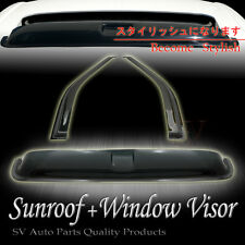 WINDOW VENTS+TOP SUNROOF MOON ROOF VISORS COMBO HONDA CIVIC 96-00 3DR/HATCHBACK