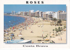 Salata Beach Roses Spain Postcard Unused VGC