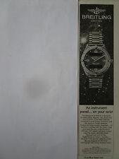 7/1989 PUB MONTRE BREITLING WATCHES AEROSPACE TITANIUM CHRONOGRAPH ORIGINAL AD