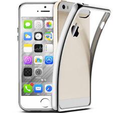 iPhone 5s / SE Luxury Schutzhülle Silikon Hüllen Case Chrom Cover Platin Silber