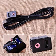3.5mm Car Auto AUX USB Audio Dash Flush Lead Mounting Headphone Extension Cable