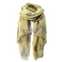 Womens Cute Cat Print Long Scarf Soft Yarn Wrap Shawl Stole Neck Warm Scarv V8A7