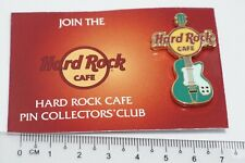 """Hard Rock Cafe -Vintage """"Collector's Club"""" Green Gibson Les Paul Mini Guitar"""