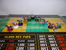 CUSTOM 12 PIECE TOKENS HORSE RACING POST POSITION FIGURINES FOR GAME OR DISPLAY